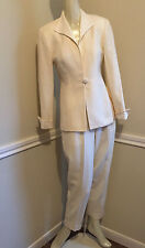 Women's Ivory/Cream 100% Wool Pant Suit by Christian Dior, Size: 2 Petite      2