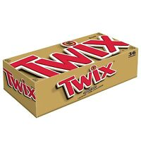 Twix Caramel Singles Size Chocolate Cookie Bar Candy 1.79-ounce Bar 36... No Tax