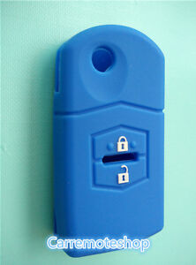 MAZDA-3-2-6-2-Button-Remote-CAR-KEY-COVER-CASE-HOLDER-MPS-SP23-CX7-CX9-deep-blue