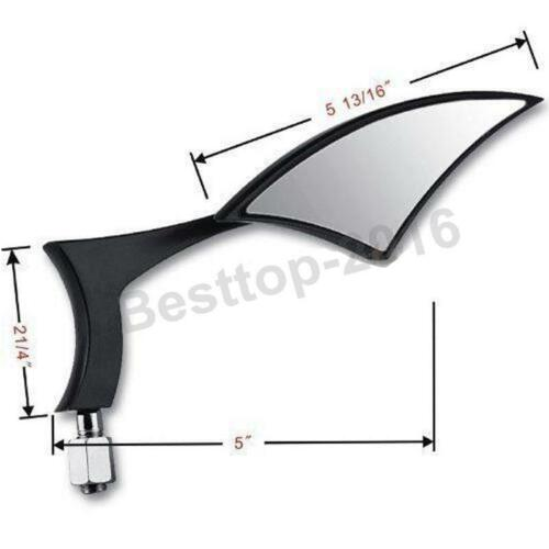 Motorcycle Blade Side Mirrors For Harley Street Glide Road Glide Custom Touring