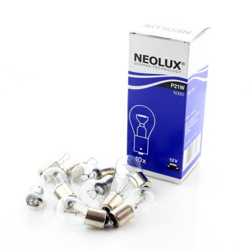 P21W 382 n382 10x Original Neolux grandes Ba15s 12v 21 W Clara bombillas