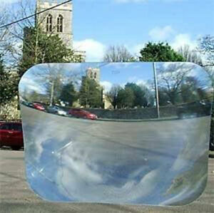 """WIDE ANGLE CAR REAR WINDOW FRESNEL LENS VIEW OPTICAL 8/""""x10/"""" Reversing Parking"""