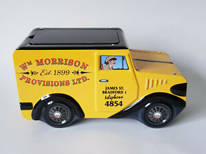 WM-MORRISON-PROVISIONS-LTD-Novelty-Biscuit-Tin-Fudge-Storage-EXCELLENT-CONDITION