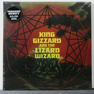 KING-GIZZARD-LIZARD-WIZARD-039-Nonagon-Infinity-039-Ltd-Edition-GREEN-BLACK-Vinyl-LP
