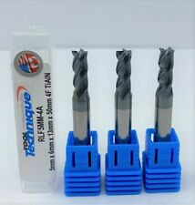 Group Of 3 5mm Carbide Endmill 4 Flute Flat Bottom Regular Tialn
