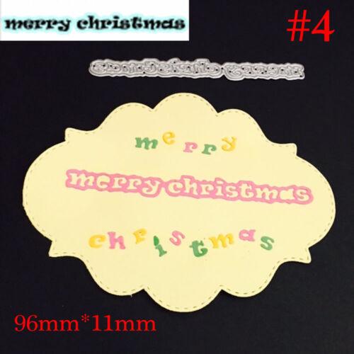 Merry Christmas Santa Cutting Dies Stencils Scrapbooking Embossing Cards Making