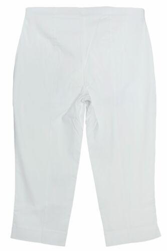 sheego Caprihose 3//4 Hose Sommerhose Schlupfhose Slim Damen Weiß Plusgröße