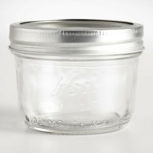 Kerr-Wide-Mouth-Half-Pint-8-Oz-Glass-Mason-Jars-with-Lids-and-Bands-12Count-USA