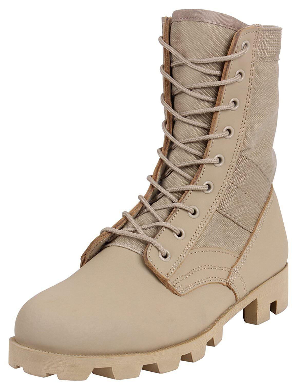 redhco 5909 Classic Military Jungle Boots - Desert Tan
