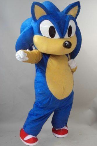 Sonic the Hedgehog Mascot Costume Video Suits Dress Adult Outfits Cosplay