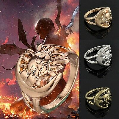 Fashion Jewelry Game of Thrones Moon and Sun Finger Ring A Song of Ice and Fire