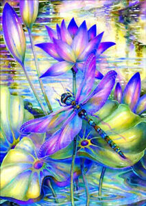 Full-Drill-Lotus-Dragonfly-5D-Diamond-Painting-Cross-Stitch-Hand-Embroidery-Kit