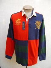 VTG Rugby POLO RALPH LAUREN Mens Jockey Club Patch Jersey Crest L Twill Shirt