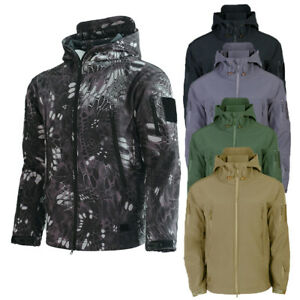 Tactical Security Police Guard Fleece Recon Hoodie Jacket Military Army Combat