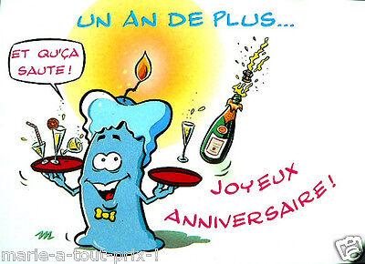 Carte Postale D Anniversaire Joyeux Anniversaire Et Qu Ca Saute Humour Fete Ebay
