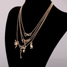 Women Once Upon A Time Necklace Multi Layer Maxi Statement Necklaces Pendants