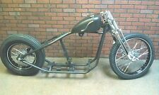 Bobber Rolling Chassis, Springer Front End Black Powder coated Wheels
