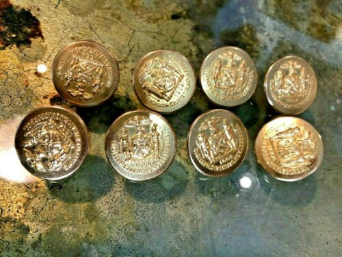 8 x Brand New Vintage NYC police buttons Waterbury