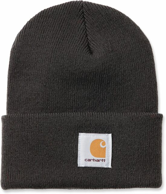 9de02a30b27 Carhartt Mens A18 Strechable Rib Knit Acrylic Watch Beanie Hat ...