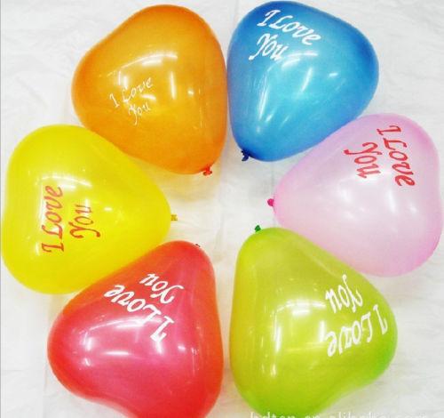 20-100pcs Mixed Heart Shaped Latex Balloons Wedding Birthday Party Decoration