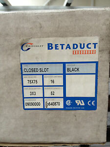 Betaduct 75 x 75mm Closed Black Slot 2m Length 8 lengths per box  09090000 - Walsall, United Kingdom - Betaduct 75 x 75mm Closed Black Slot 2m Length 8 lengths per box  09090000 - Walsall, United Kingdom