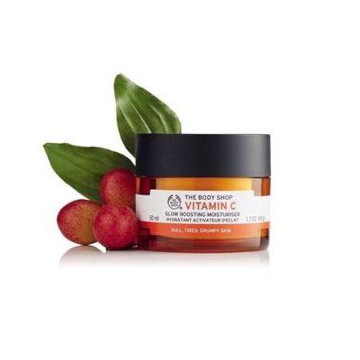 New Vegetarian The Body Shop Skin Moisturizer Gel Cream Vitamin C Glow Boosting