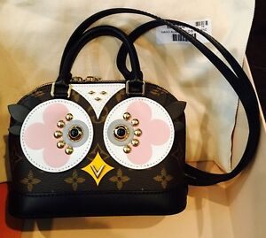 Image is loading Authentic-Louis-Vuitton-Limited-Edition-Alma-Nano-Owl- bdd500cb197be