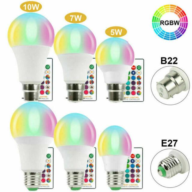 Mini RGB LED Glühbirne 3,5 Watt E27 Sockel Dimmbar Fernbedienung Farbwechsler