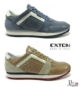Geox scarpe da uomo estive sneakers in pelle casual sportive
