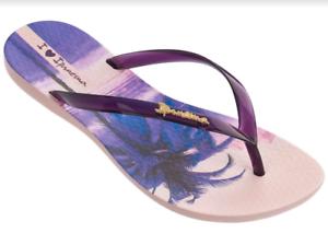 2858fe465e92 Ipanema Women`s Flip Flops Wave Scenic Sandal Pink Purple Brazilian ...