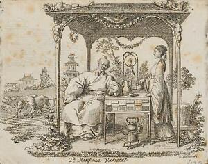 """Chodowiecki (1726-1801). la mongole """"persone-varietà""""; pressione grafico 1"""