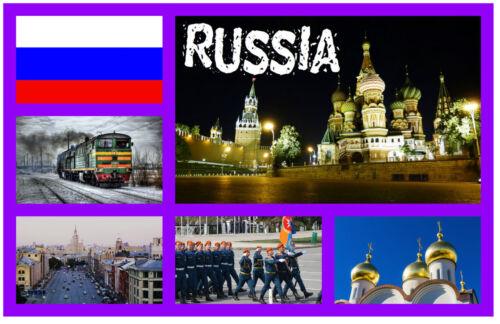 GIFT SOUVENIR NOVELTY FRIDGE MAGNET BRAND NEW RUSSIA