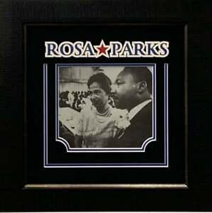 Rosa Parks Civil Rights Leader Rare Signed Autograph Photo With MLK Frame JSA