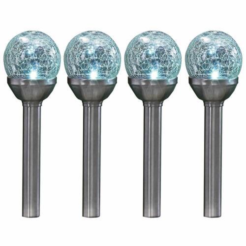 LUCE A LED ENERGIA SOLARE DA GIARDINO ESTERNO Crackle Glass Gioco Palla Luci Lanterna