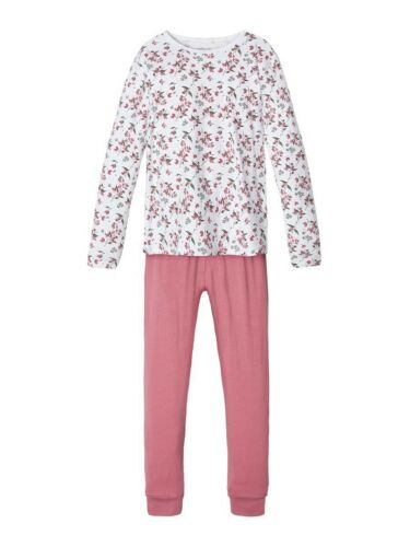 Name It pyjama pyjama rose profond fleurs Taille 86//92 à 158//164