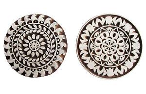 HOLZSTEMPEL-Textilstempel-Mandala-Indien-Henna-Seifenstempel-Ethno-Blumen-D-7-cm