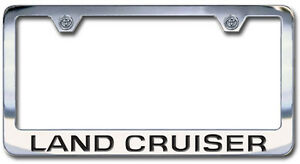 Toyota FJ Cruiser Chrome License Plate Frame with Engraved Script Letters
