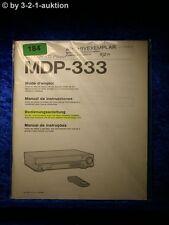 Sony Bedienungsanleitung MDP 333 CD CDV LD Player  (#0184)