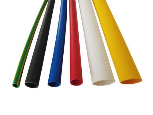 1,2 m schrumpfschlauch 9,5 mm halogen libre y extremadamente flammwidrig seleccionar color