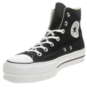 Scarpe-Converse-Chuck-Taylor-All-Star-Platform-Hi-Lift-Taglia-37-560845C-Nero