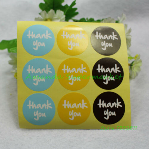 135pcs//lot Mixed Color Thank You Vintage Label Sticker DIY Hand Made