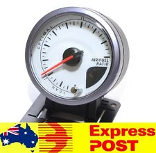 60mm White Air Fuel Ratio Gauge Meter 4x4 4WD AFR Petrol Diesel Car Truck LED