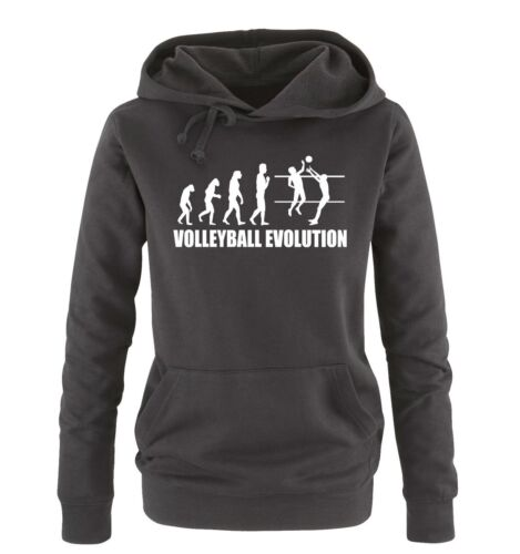 Volleyball Evolution Damen HoodieSport Team Ball Neu Comedy Shirts