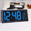 thumbnail 3 - AcuRite 75152M Oversized Blue LED Clock with Indoor Temperature, Date and Stand,
