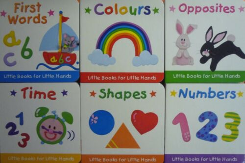 Little Learners First Words Mini Board Book 6 Educational Titles to Choose