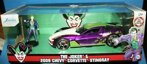 The Joker /& 2009 Chevy Corvette Stingray 1:24 Diecast Car Hollywood Rides