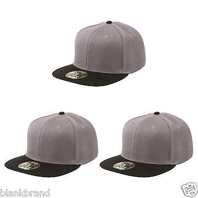 Plain Adult Snapback Cap | Contrast Colours Snapback Urban Caps | Pack of 3