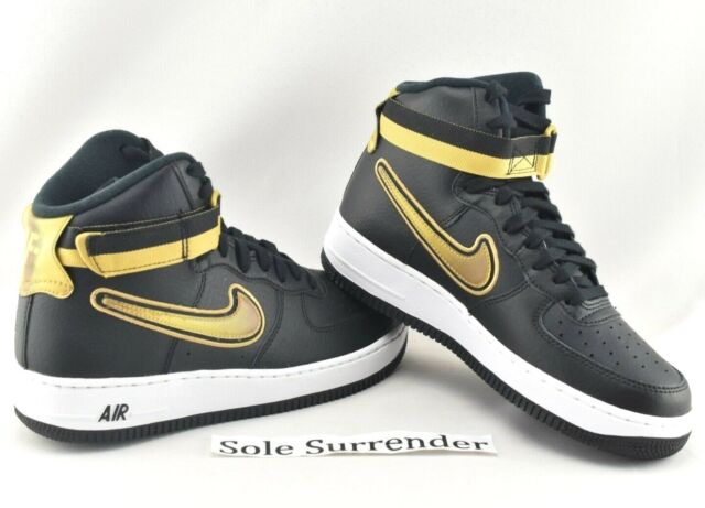 Nike Air Force 1 High 07 Lv8 Sport NBA Black Metallic Gold Af1 Men  Av3938,001