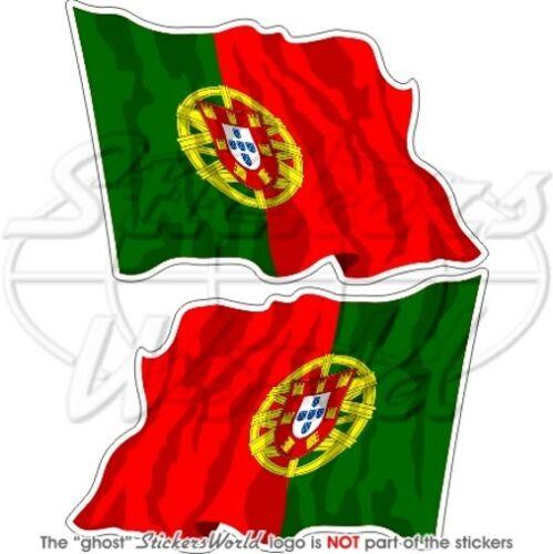 PORTOGALLO Bandiera Onda Portoghese Iberica Adesivi in Vinile Sticker