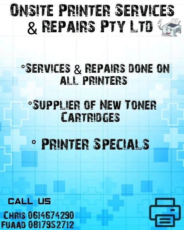 Printer Services & Specials